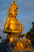 Golden Hindu God Statue