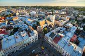 Top view of Lviv city, Ukraine