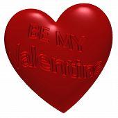 Inscription Be My Valentine
