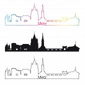 Metz Skyline Linear Style With Rainbow