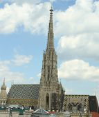 Bell Tower Of St. Stephen's Cathedral In Vienna, Austria
