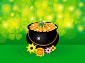 Abstract Artistic St Patrick Background