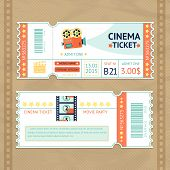 Постер, плакат: Cinema Tickets Set