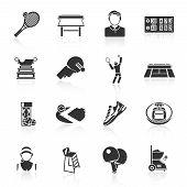 Tennis icons black