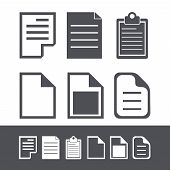 Vector modern file icons set.