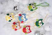 picture of snow owl  - Handmade Christmas decorations - JPG
