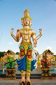stock photo of brahma  - Big brahma statue in Chiang Rai province of Thailand - JPG