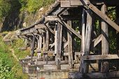 Old Wood Structure Of Dead Railways Bridge Important Landmark And Destination Of World War Ii Histor