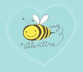stock photo of bee cartoon  - Cute hand - JPG