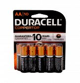 Los Angeles,California Dec 10th 2014:  Nice Image Of a Pack Of Duracell Copper top batteries