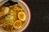 Japanese Shoyu Ramen With Copy Space
