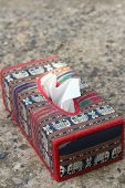 foto of tissue box  - Tissue box Elephant is the symbol of Thailand - JPG