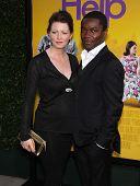 LOS ANGELES - AUG 09:  DAVID OYELOWO & wife JESSICA arrives to the