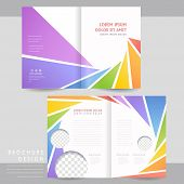 Colorful Half-fold Brochure Template Design