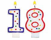 Birthday Candles Number Eighteen