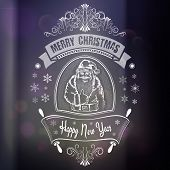Christmas Card With Hand Drawn Typography, Handwriting, Calligraphic In Vector