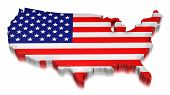 USA (clipping path included)