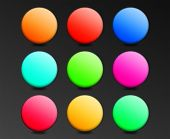 Collection Of Color Spheres On A Black Background