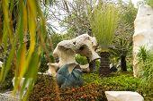 Pattaya, Thailand - January 17, 2012: Landscape design in Million Years Stone Par