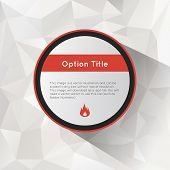 Options polygonal background.