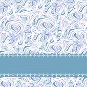 Light blue pattern with stripe