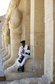 Egyptian Tourist Police Officer rests