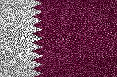 image of stingray  - Qatar Flag painted on stingray skin texture - JPG