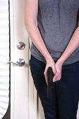 Woman in home invasion scenario