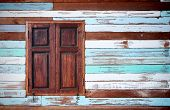the wood wall and window old condition many color