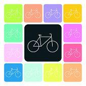 picture of dirt-bike  - Bike Icon color set vector illustration  - JPG