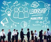 picture of idealistic  - Leadership Leader Management Authority Director Concept - JPG