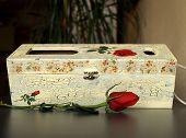 Wine Box And Rose