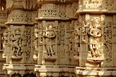 foto of jain  - Fabulous marble stone carvings on the wall of a Jain Temple at Jaisalmer Fort in Jaisalmer Rajasthan India Asia - JPG