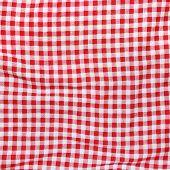 Постер, плакат: Red Linen picnic Tablecloth texture