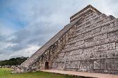 stock photo of yucatan  - famous Chichen Itza Mayan Pyramid in Yucatan Mexico - JPG