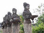 image of hindu  - Ancient Buddha hindu style statue at Sala Kaew Ku Nongkhai Thailand  - JPG