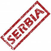 stock photo of serbia  - New Serbia grunge rubber stamp on a white background - JPG