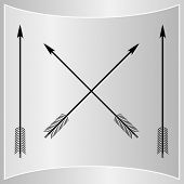 picture of bow arrow  - Bow Arrows Silhouette - JPG
