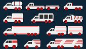 foto of pick up  - Cartoon Car Icons Silhouetted - JPG