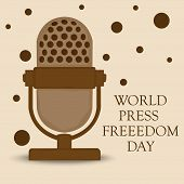 pic of freedom speech  - illustration for World Press Freedom Day in brown background - JPG