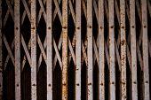 picture of roller shutter door  - the old metal roller shutter gate background - JPG