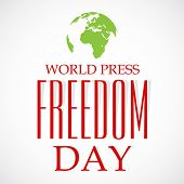 picture of freedom speech  - illustration of stylish colorful text for World Press Freedom Day in gray background - JPG
