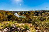image of texas  - View Of The Texas Pedernales River From A High Bluff - JPG