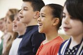 pic of drama  - Group Of School Children Singing In Choir Together - JPG