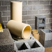 foto of chimney  - Construction of modular ceramic chimney in the house - JPG