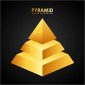 picture of pyramid shape  - pyramid icon design - JPG