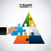 stock photo of human pyramid  - pyramid infographic design - JPG