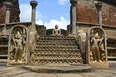 picture of polonnaruwa  - Ancient Buddha highlights temple ruins in Sri Lanka - JPG