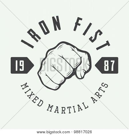 Vintage Mixed Martial Arts Logo