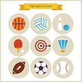 Постер, плакат: Flat Sport And Recreation Icons Set